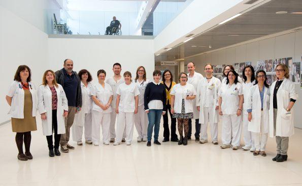 Grupo de profesionales del Hospital Nacional de Parapléjicos