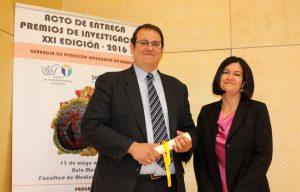 Daniel García Ovejero con con la directora de gestión de la GAI de Albacete, María Hoyos